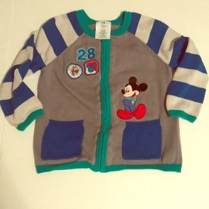 Disney store Mickey Mouse sweater 18-24 months EUC